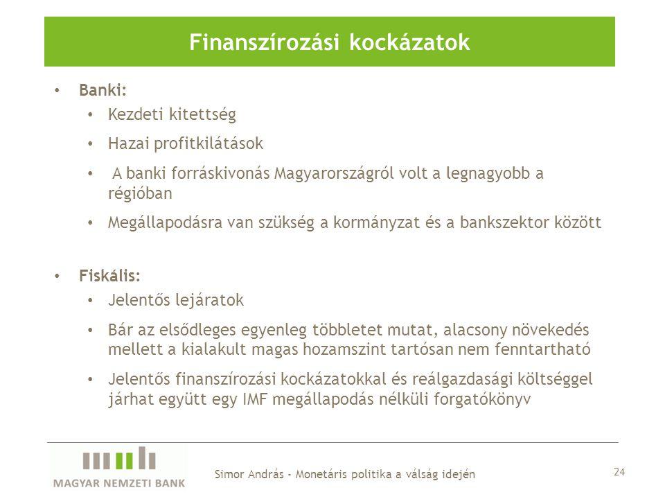 Finanszírozási kockázatok