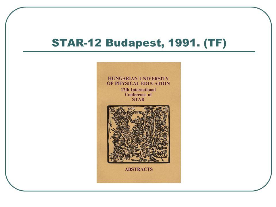 STAR-12 Budapest, 1991. (TF)