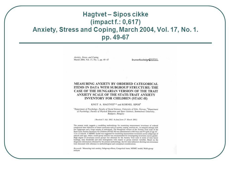 Hagtvet – Sipos cikke (impact f