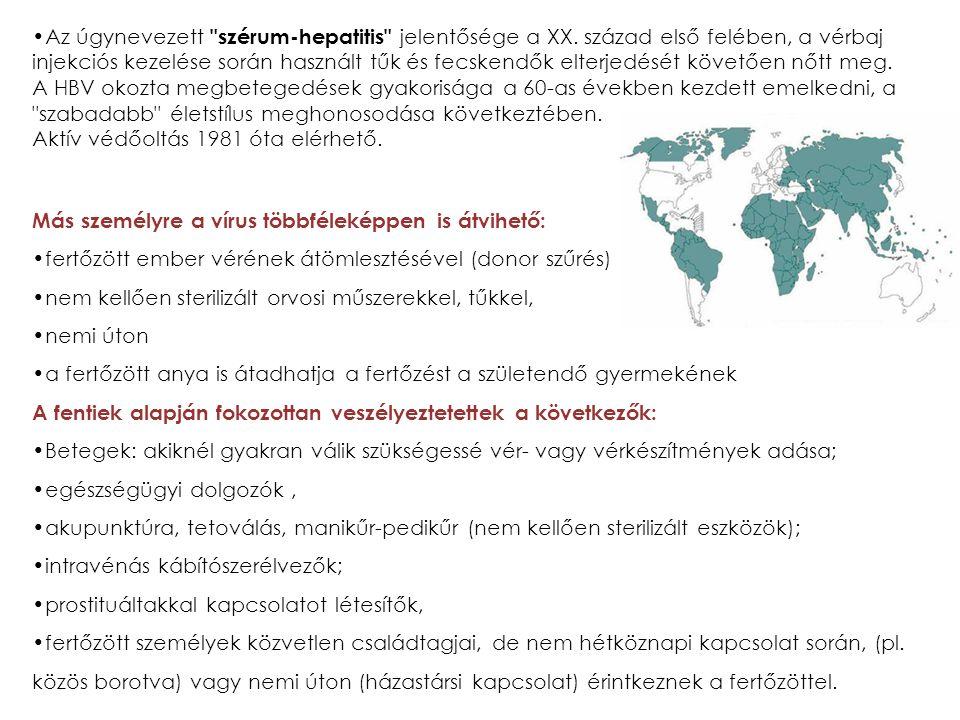 Az úgynevezett szérum-hepatitis jelentősége a XX