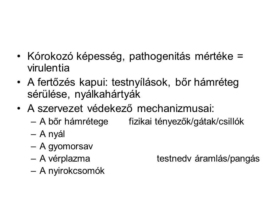 Kórokozó képesség, pathogenitás mértéke = virulentia