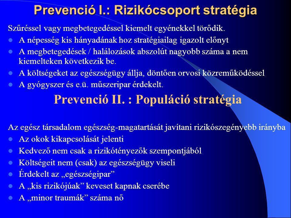 Prevenció I.: Rizikócsoport stratégia