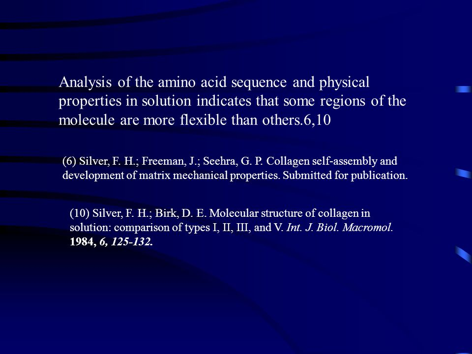 Analysis of the amino acid sequence and physical properties in solution indicates that some regions of the molecule are more flexible than others.6,10
