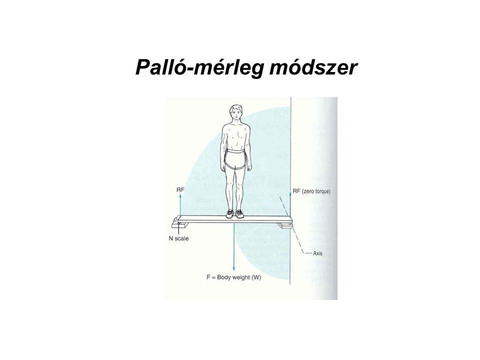 Palló-mérleg módszer