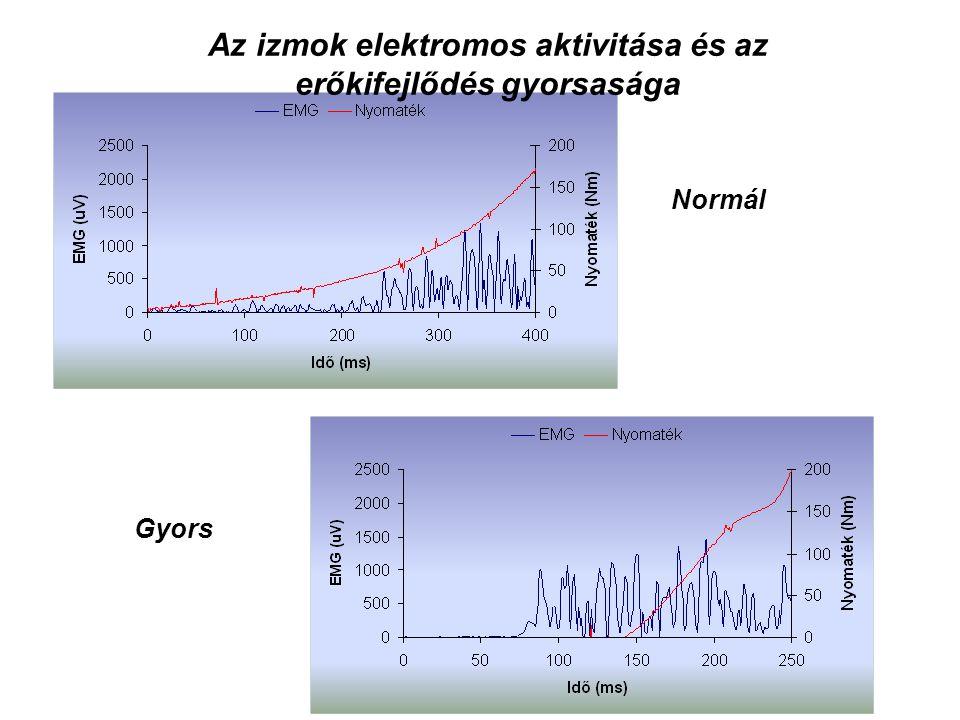 Az izmok elektromos aktivitása és az erőkifejlődés gyorsasága