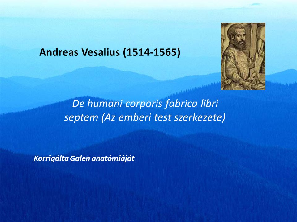De humani corporis fabrica libri septem (Az emberi test szerkezete)