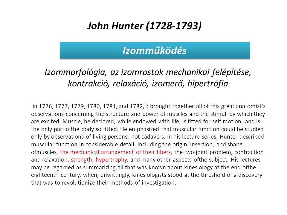 John Hunter (1728-1793) Izomműködés