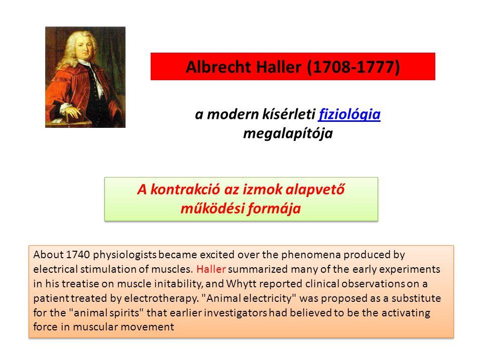 Albrecht Haller (1708-1777) a modern kísérleti fiziológia megalapítója