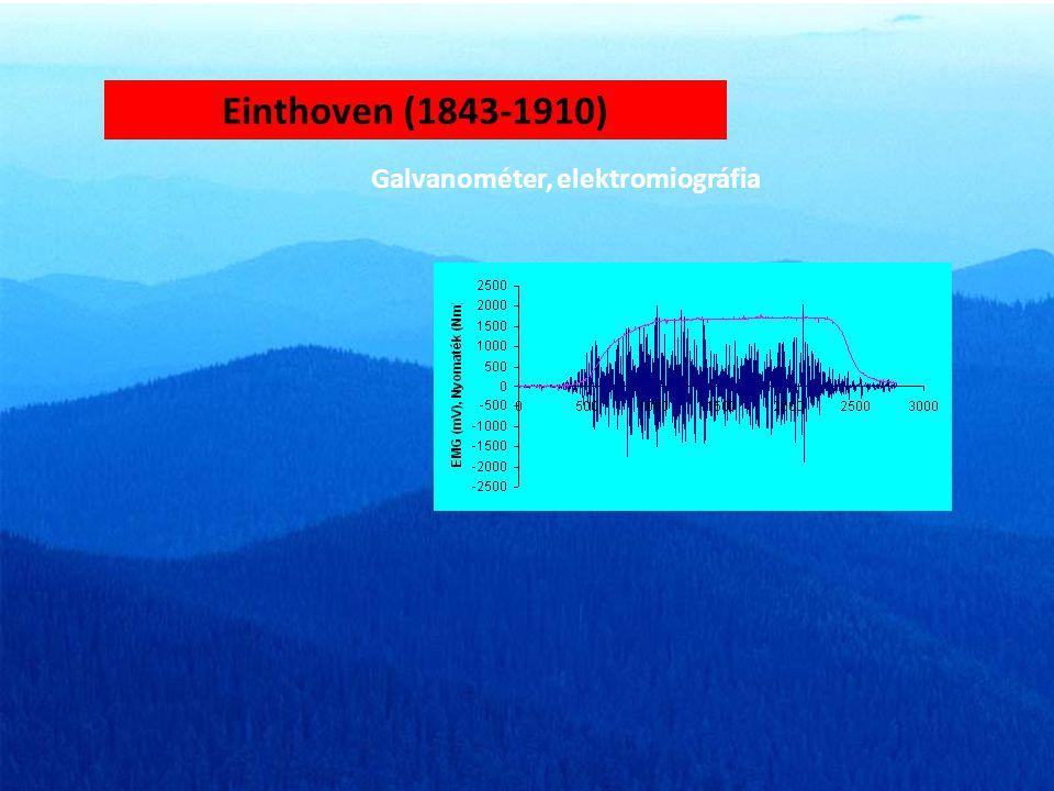 Einthoven (1843-1910) Galvanométer, elektromiográfia