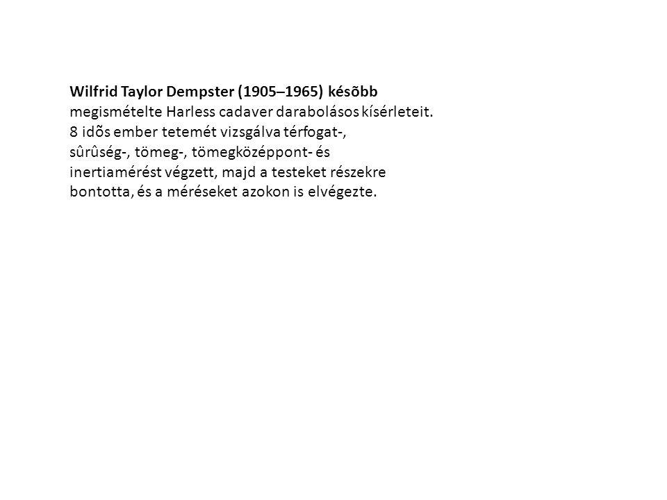 Wilfrid Taylor Dempster (1905–1965) késõbb