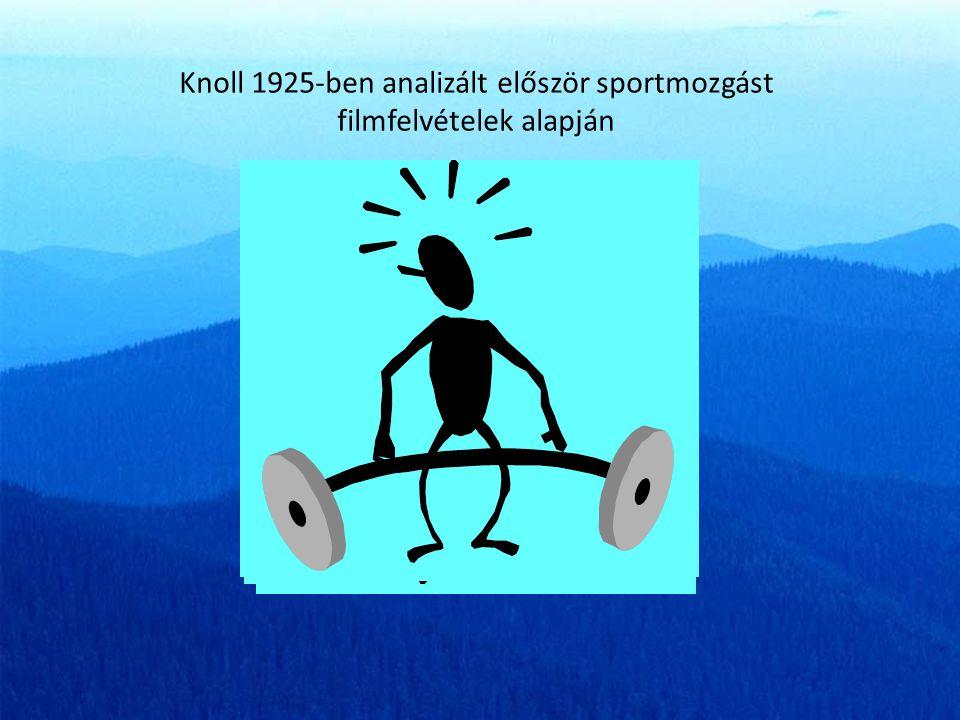 Knoll 1925-ben analizált először sportmozgást filmfelvételek alapján