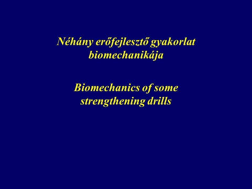 Néhány erőfejlesztő gyakorlat biomechanikája