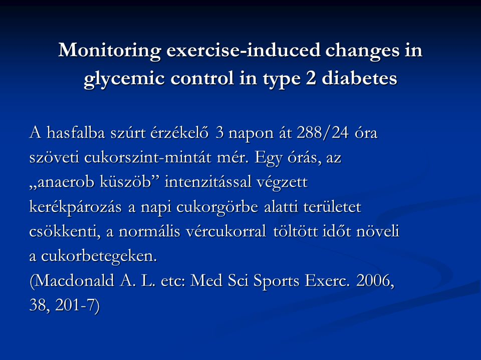 Monitoring exercise-induced changes in