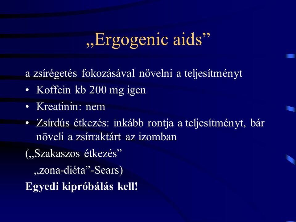 """""""Ergogenic aids a zsírégetés fokozásával növelni a teljesítményt"""