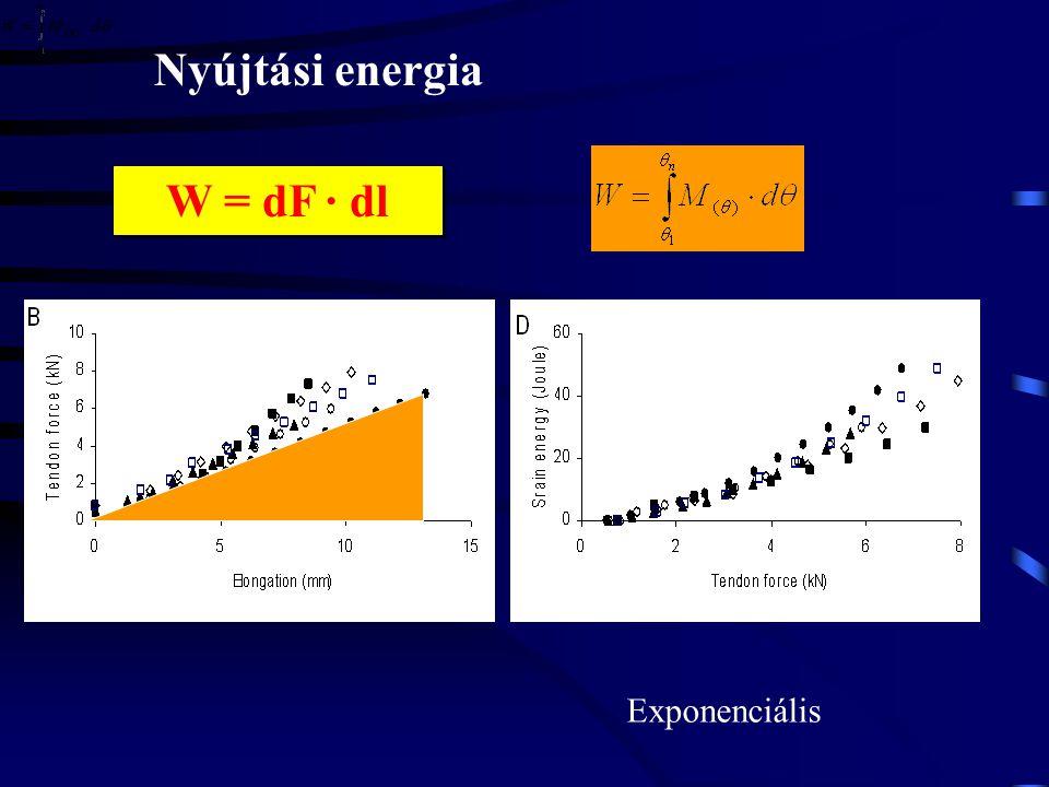 Nyújtási energia W = dF · dl