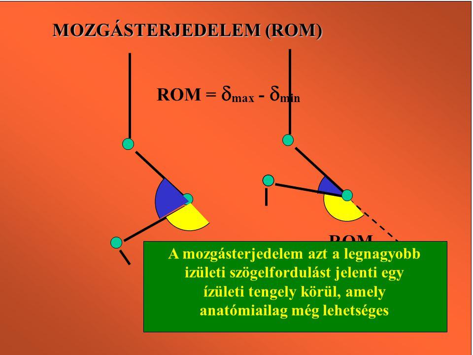 MOZGÁSTERJEDELEM (ROM)