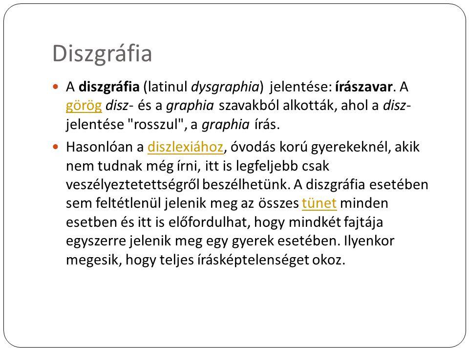 Diszgráfia