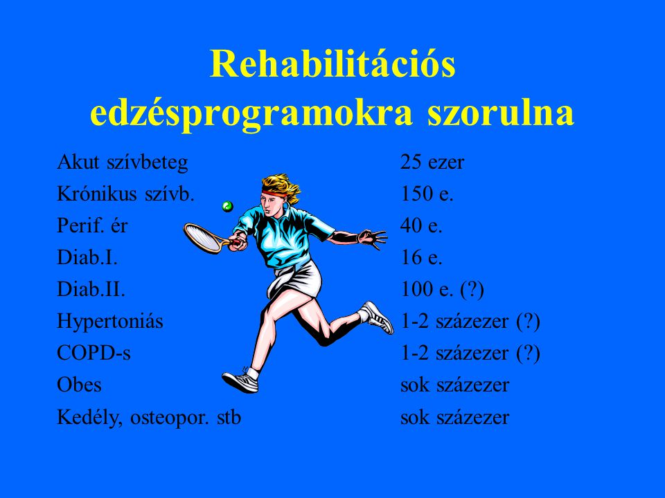Rehabilitációs edzésprogramokra szorulna