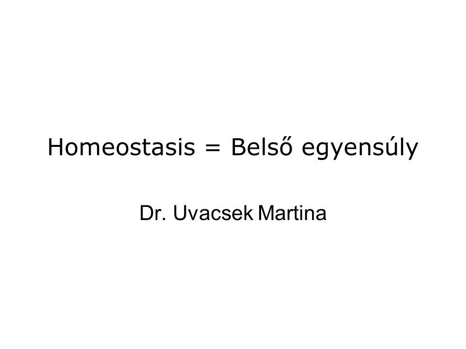 Homeostasis = Belső egyensúly