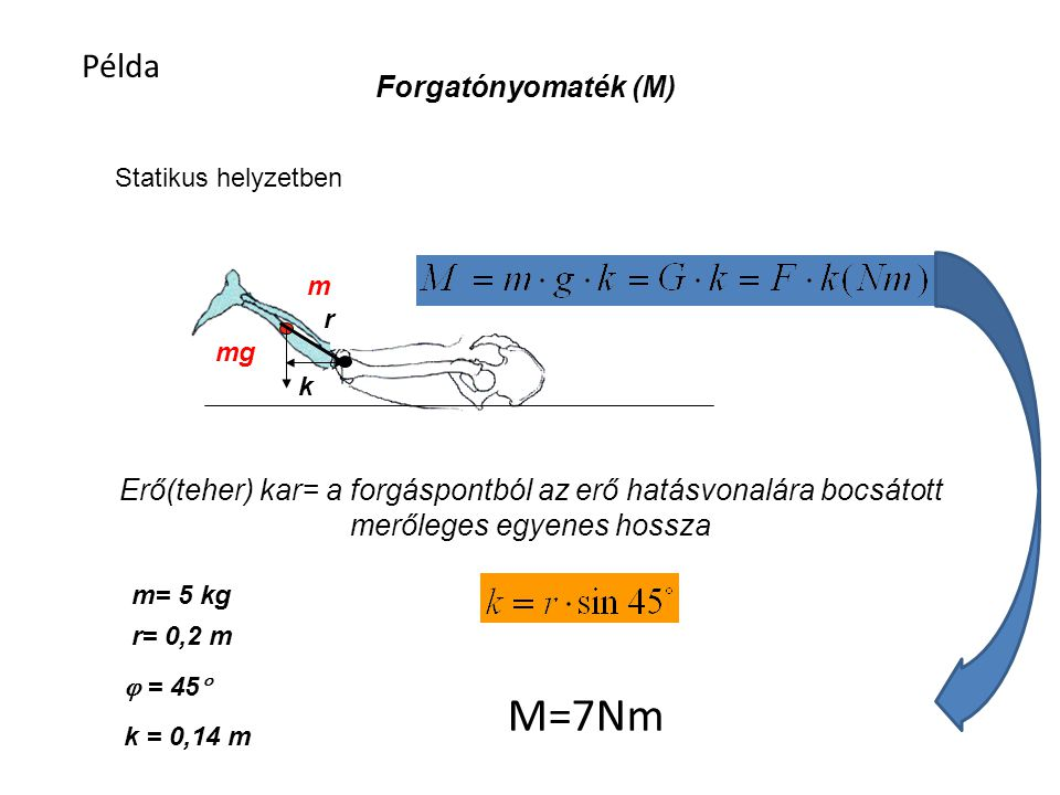 M=7Nm Példa Forgatónyomaték (M)