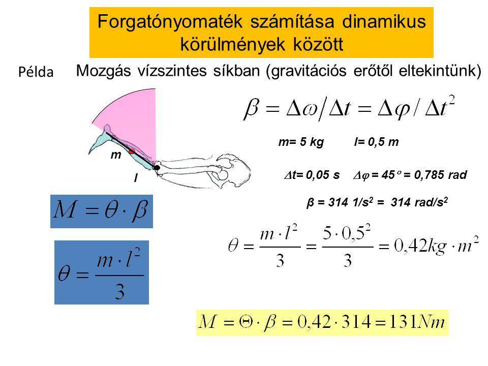 Forgatónyomaték számítása dinamikus körülmények között