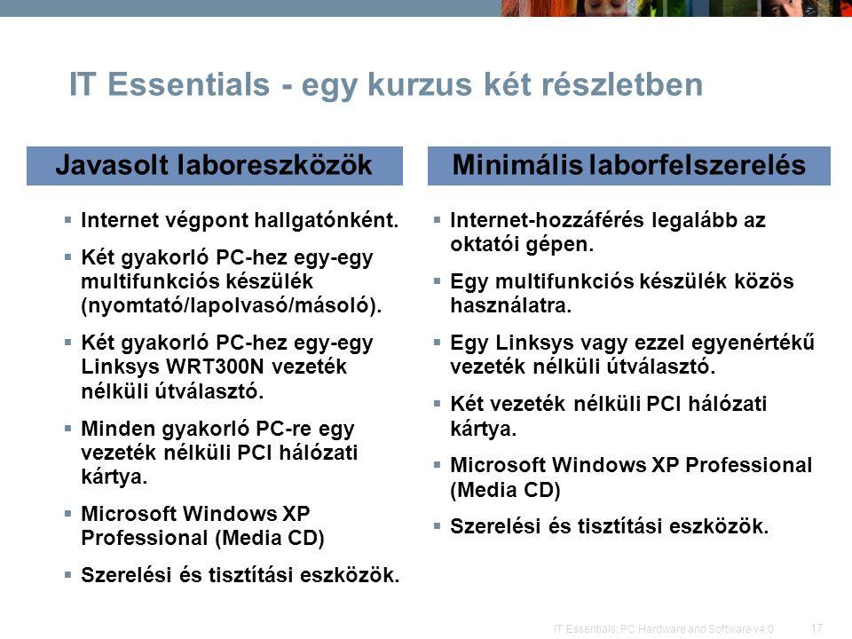 IT Essentials - egy kurzus két részletben