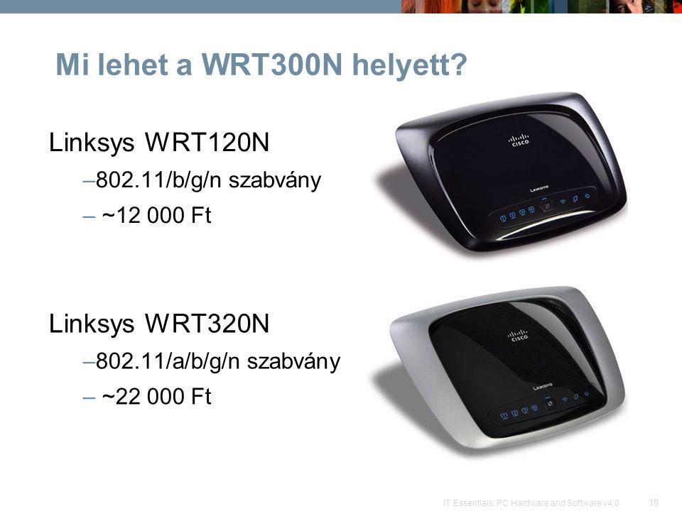 Mi lehet a WRT300N helyett Linksys WRT120N Linksys WRT320N