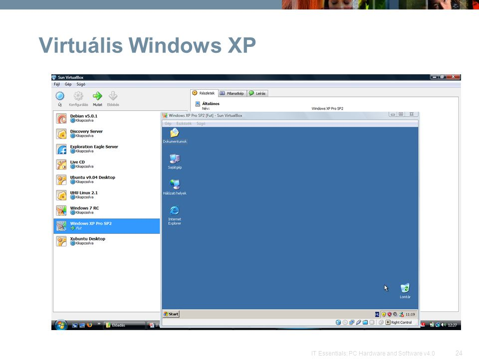 Virtuális Windows XP