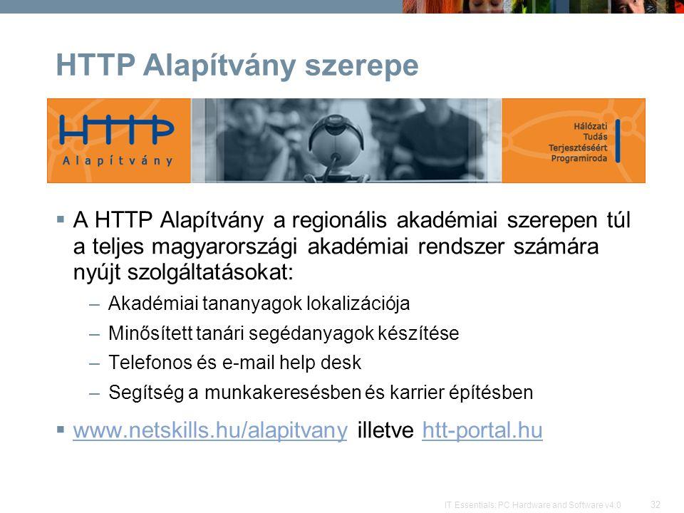 HTTP Alapítvány szerepe