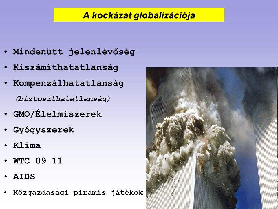 A kockázat globalizációja