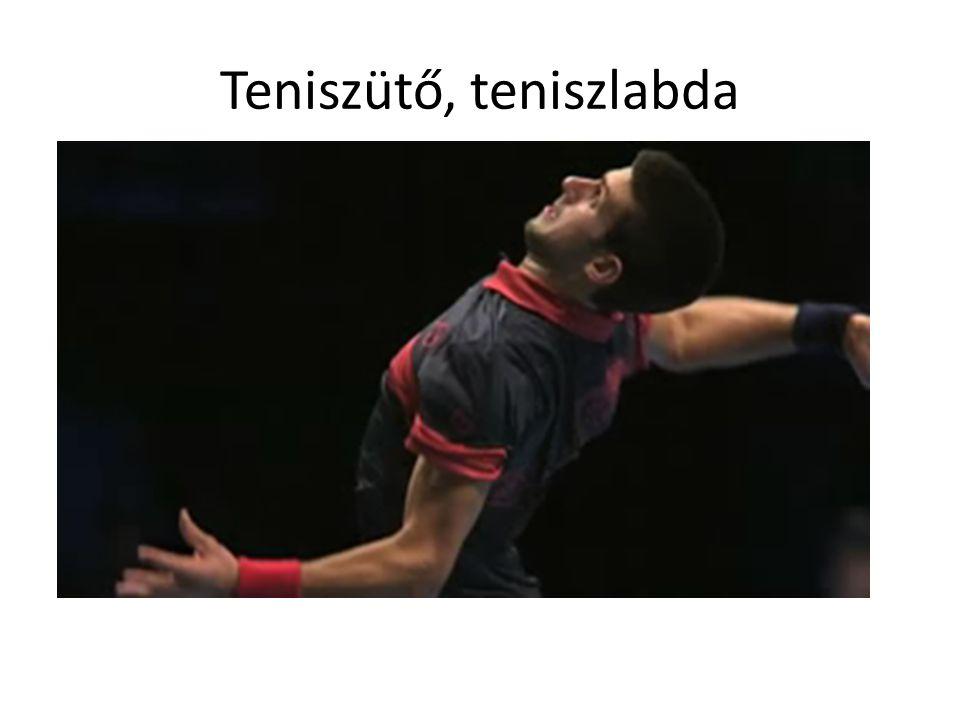 Teniszütő, teniszlabda