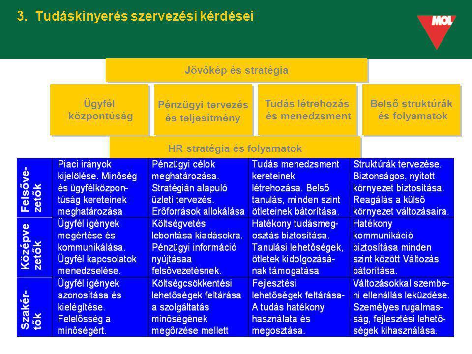 3. Tudáskinyerés szervezési kérdései