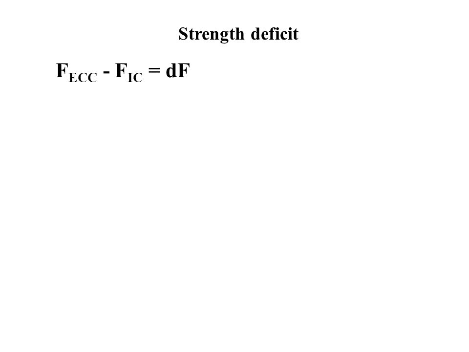 Strength deficit FECC - FIC = dF