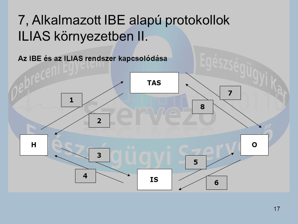 7, Alkalmazott IBE alapú protokollok ILIAS környezetben II.