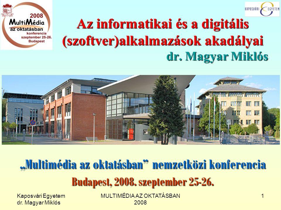 """""""Multimédia az oktatásban nemzetközi konferencia"""