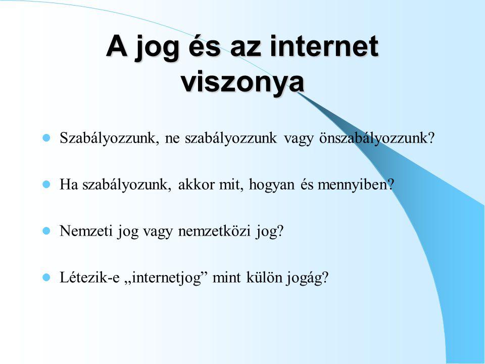 A jog és az internet viszonya
