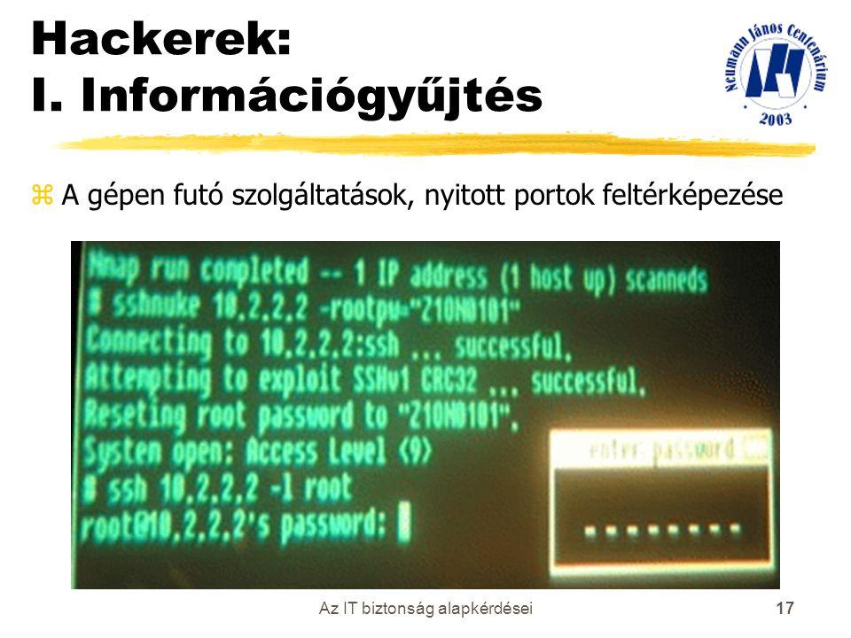 Hackerek: I. Információgyűjtés
