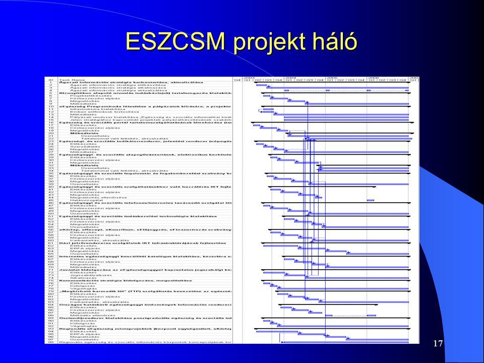 ESZCSM projekt háló