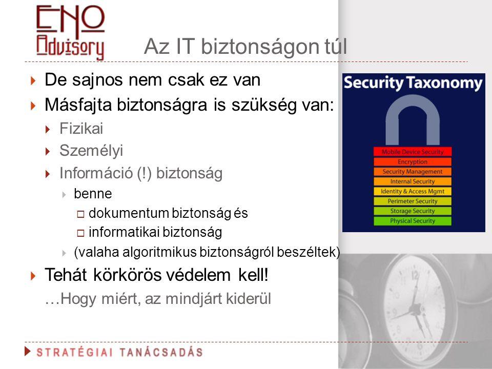 Az IT biztonságon túl De sajnos nem csak ez van
