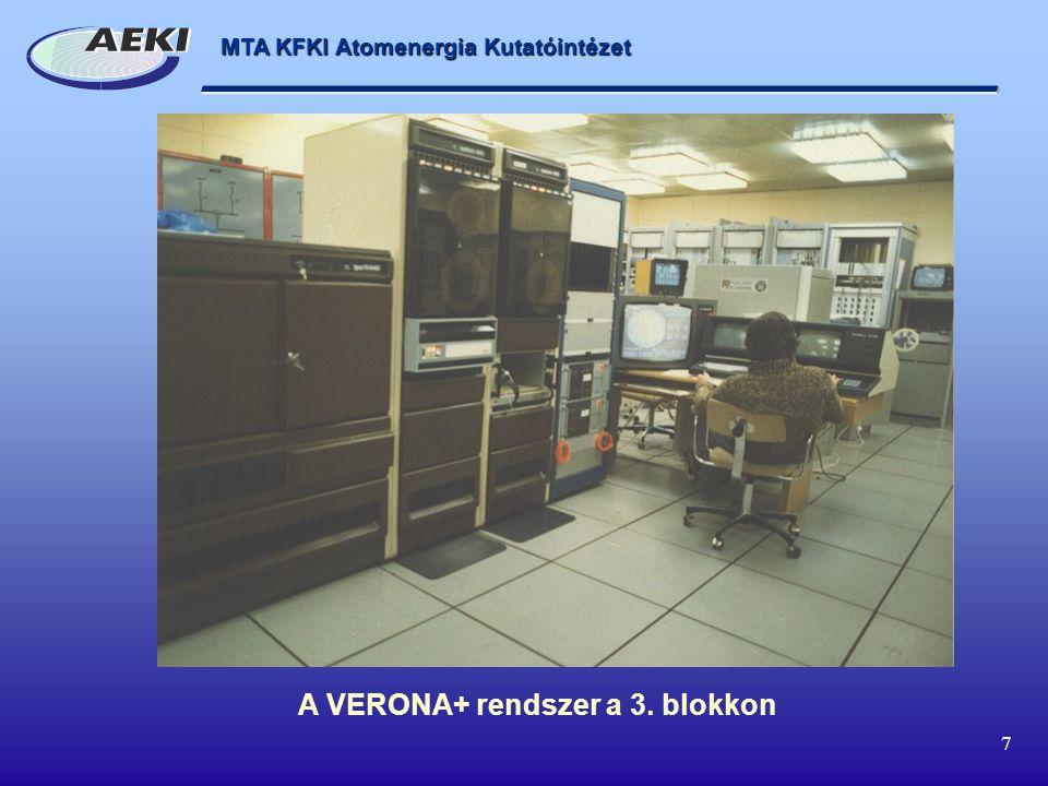 A VERONA+ rendszer a 3. blokkon