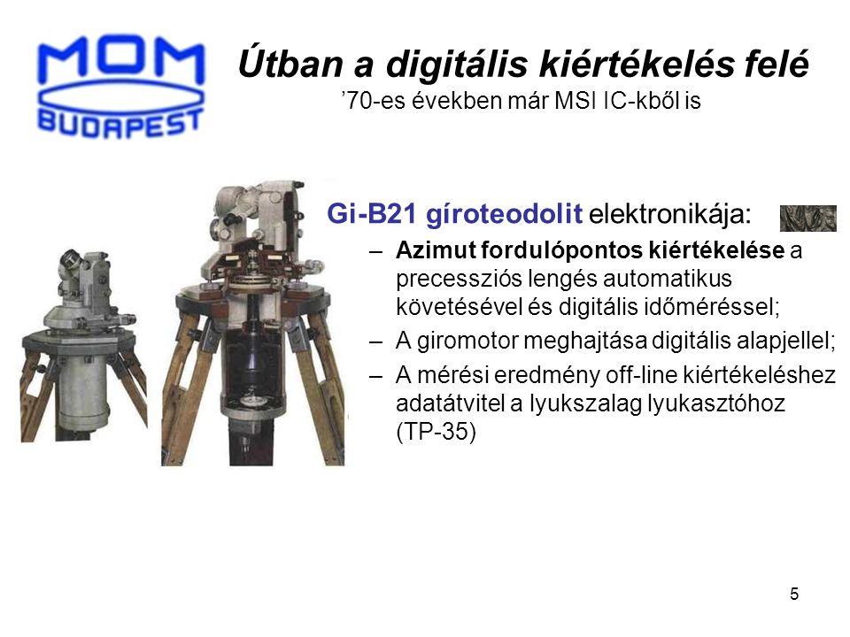 Útban a digitális kiértékelés felé '70-es években már MSI IC-kből is