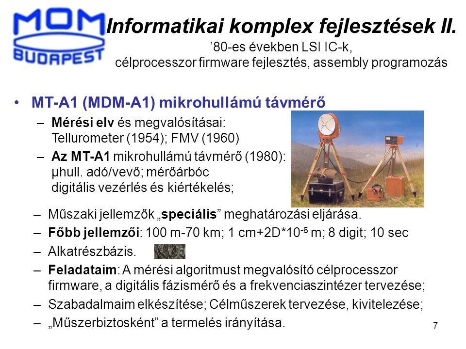 Informatikai komplex fejlesztések II