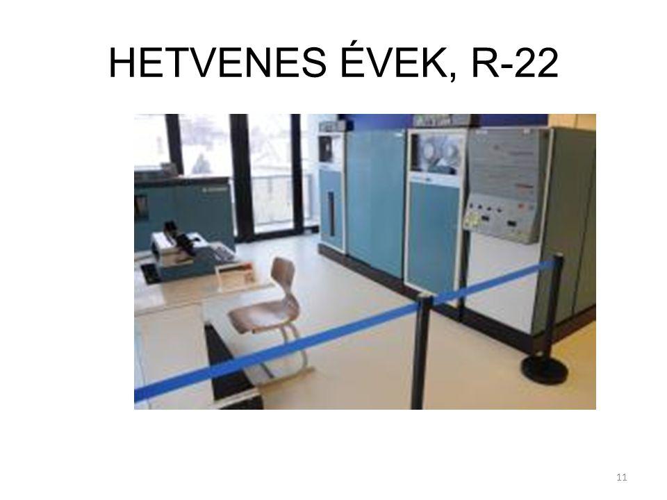 HETVENES ÉVEK, R-22