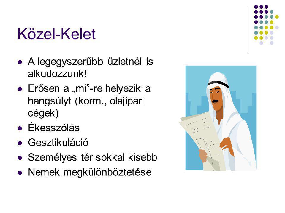 Közel-Kelet A legegyszerűbb üzletnél is alkudozzunk!