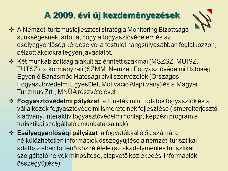 A 2009. évi új kezdeményezések