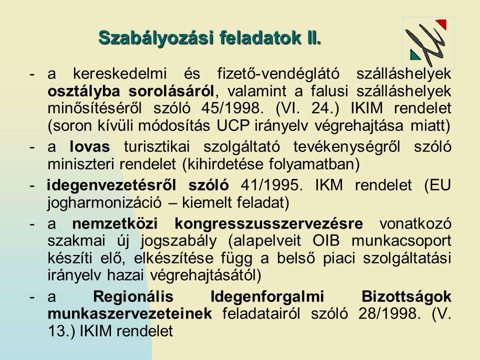 Szabályozási feladatok II.