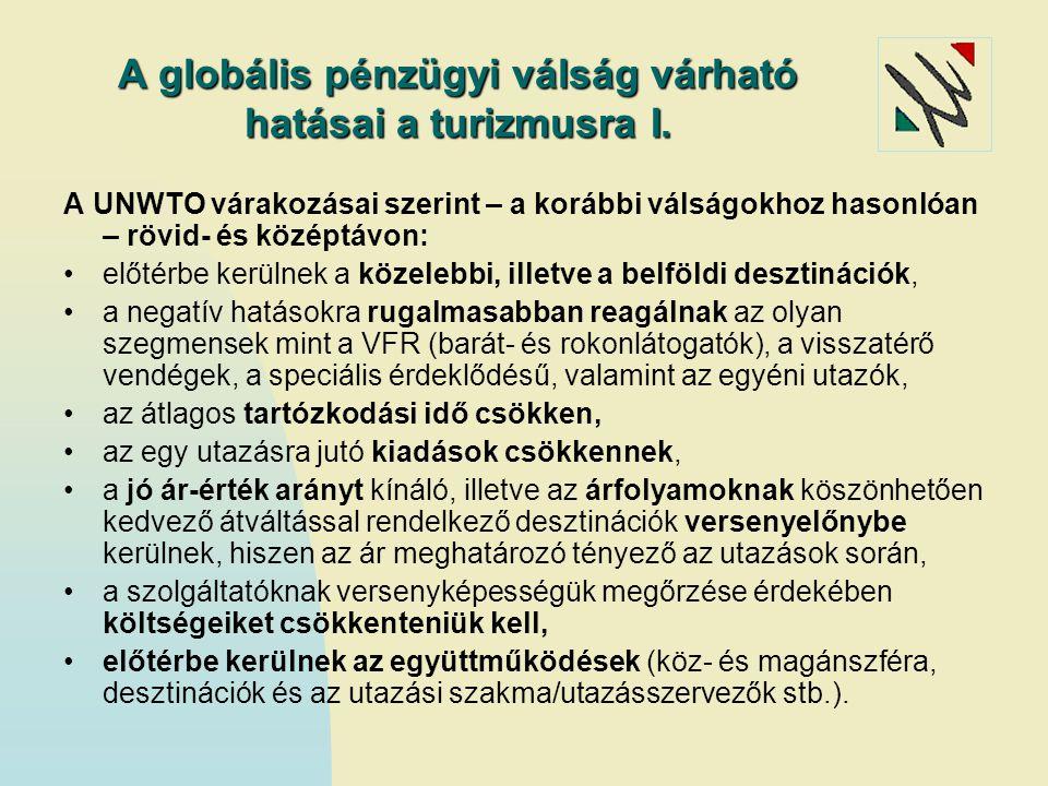 A globális pénzügyi válság várható hatásai a turizmusra I.