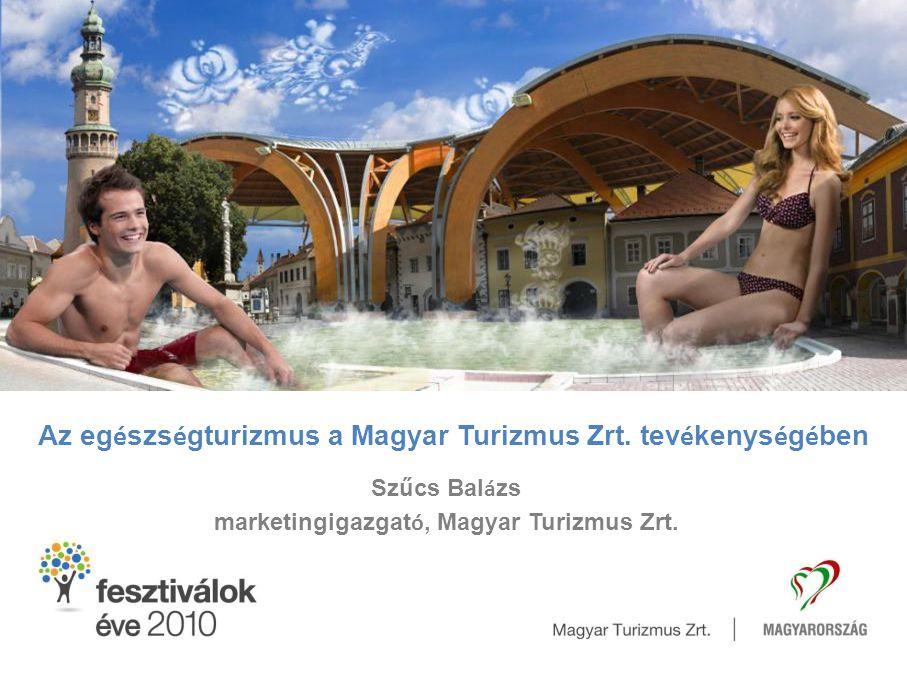 Az egészségturizmus a Magyar Turizmus Zrt. tevékenységében