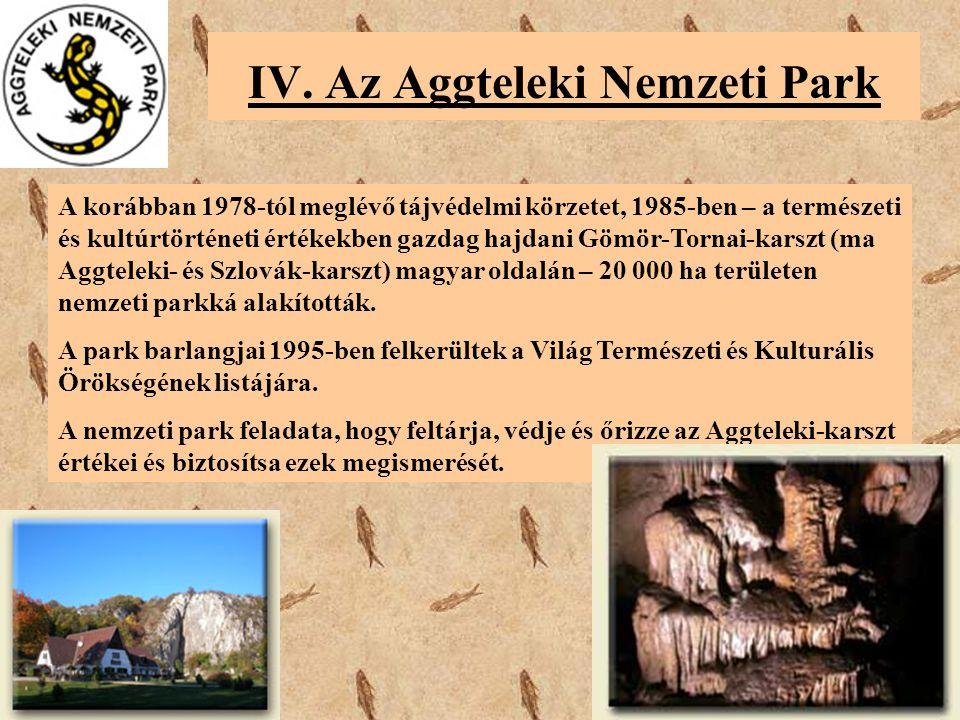 IV. Az Aggteleki Nemzeti Park