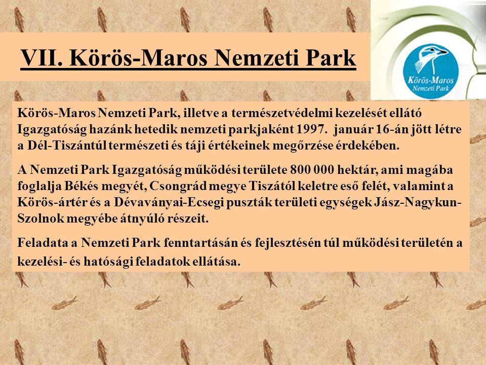 VII. Körös-Maros Nemzeti Park